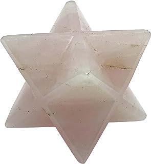 Harmonize Quartz Rose 8 Points Merkaba Étoile Sacrée Chakra Équilibre Cristal Guérison Reiki
