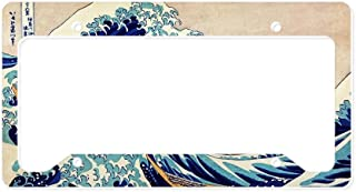 CafePress Great Wave Off Kanagawa Aluminum License Plate Frame, License Tag Holder