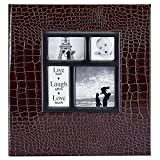 Ywlake Photo Album 4x6 1000 Pockets Photos Croco, Extra Large Capacity Family Wedding Picture Albums Holds 1000 Horizontal and Vertical Photos Brown