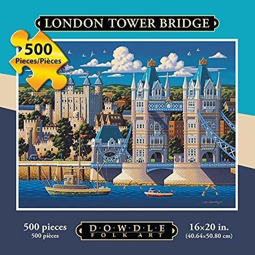 Jigsaw Puzzle - London Tower Bridge500 Pc By Dowdle Folk Art by Dowdle Folk Art