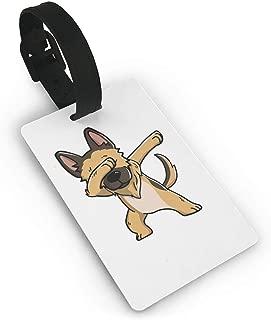 FunnyToiletLidCoverBB Swag German Shepherd Luggage Tag Initial Bag Tag Etag Holders PVC Size .