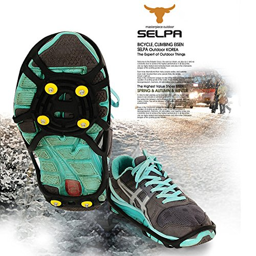 Bluelover 6 Cloutés Anti-Dérapant Ice Grip Spike Winter Walking Sports Surchaussures Chaussures Couverture