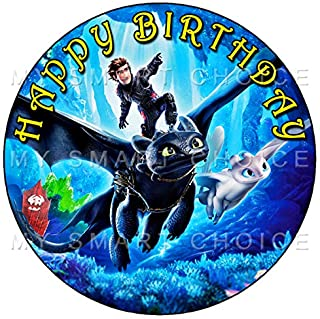 7.5 Inch Edible Cake Toppers – HOW TO TRAIN YOUR DRAGON Themed Birthday Party Collection of Edible Cake Decorations