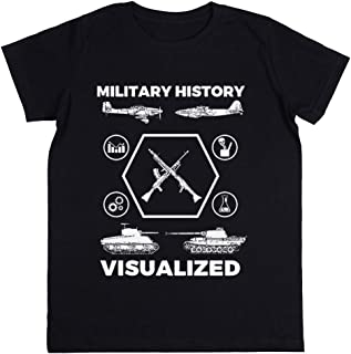 Military History Visualized - Planes, Tanks & Icons Niños Unisexo Chicos Chicas Negro Camiseta Kids Unisex T-Shirt
