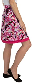 """Colorado Clothing Tranquility 21"""" Print/Solid Reversible Skirt"""