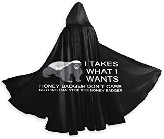 Adult Cloak for Halloweenn Honey Badger Unisex Long Robe Halloween Costume Uniform Cloak Cape