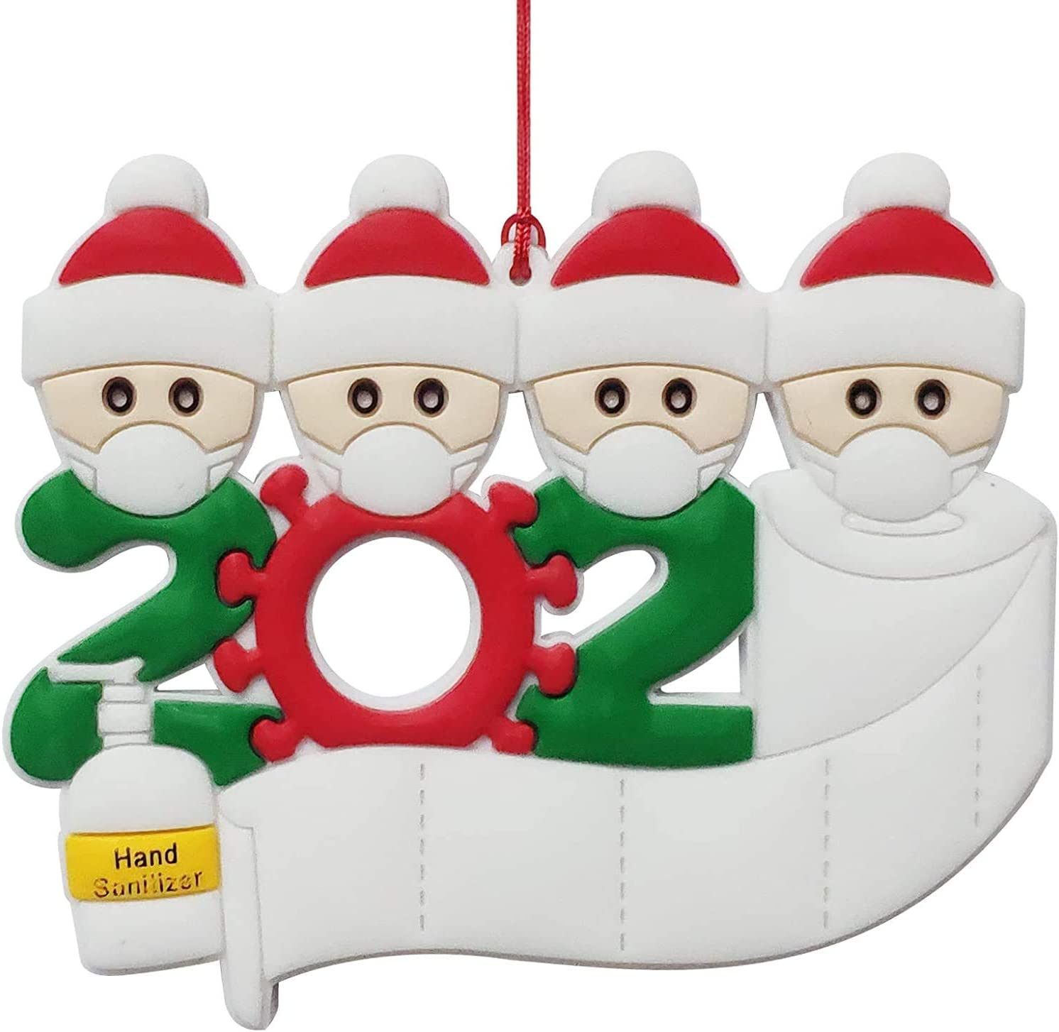TBAO 2020 Personalized Family Challenge the lowest price Ornaments Ch Max 81% OFF Quarantine Christmas