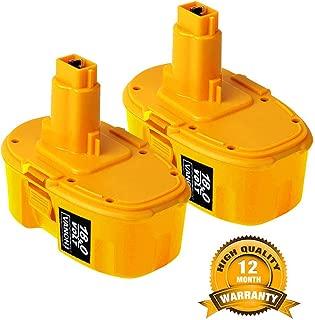 18V 4.0Ah Replace Battery for Dewalt DC9096 388683-12 651034-01 DE9039 DE9095 DE9096 DE9098 DW9096 DW9095 DW9098 (2 Pack)