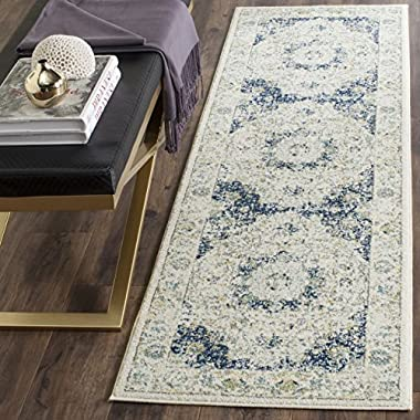 Safavieh Evoke Collection EVK220C Vintage Oriental Ivory and Blue Runner (2'2  x 9')