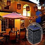 Solarleuchte Außen Solar Gartenlaterne Gartenleuchte, Solar Gartenleuchten mit Flammeneffekt, IP65 Wasserdichte Hängelaterne Solarlaterne Flammenlampe für Garten, Hof, Party, Tisch Sommer Deko(Blume)