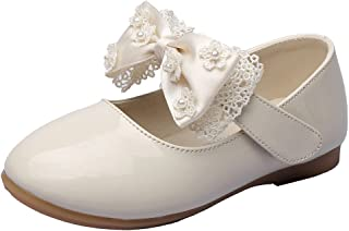 MAXU Girls PU Fashion Dress Flat