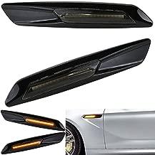 Jinfili Black Smoke Amber Side Marker Turn Signal Light for BMW 3 Series E90 E91 E92 E93