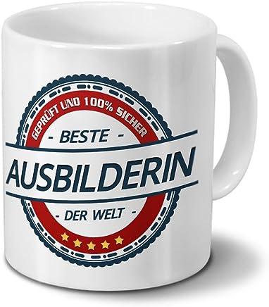 Tasse mit Beruf Ausbilderin - Motiv Berufe - Kaffeebecher, Mug, Becher, Kaffeetasse - Farbe Weiß - preisvergleich