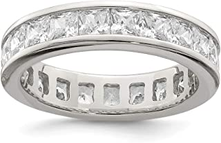 925 Sterling Silver Cubic Zirconia Cz Eternity Wedding Ring Band Fine Jewelry For Women Gift Set