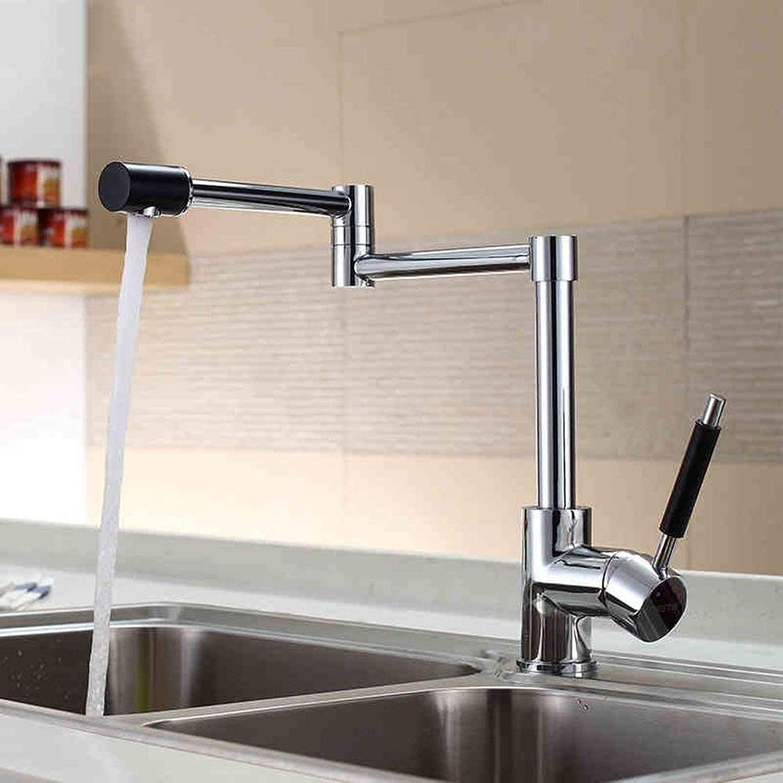 DYR Wasserhahn Die Küche ist hei und kalt Wasserhahn Waschbecken Wasserhahn 1080 Grad Falten warm und kalt führend (Farbe  A)