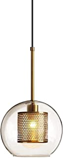 American Industrial Style Simple Endant Lighting, Single-Head Transparent Glass Material Chandelier, Round Ball Shape Doub...