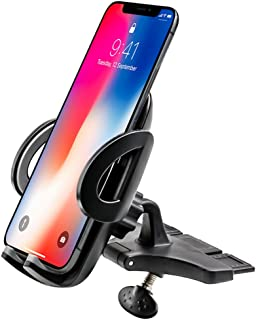 woleyi Phone Holder for Car CD Slot, Universal CD Slot Phone Mount for iPhone, Samsung, Huawei, Nokia, LG, HTC and Other 3.5-6.0