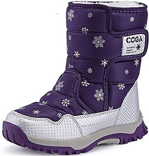 6a8808c37e5e2 SAGUARO® Enfant Bottes de Neige Hiver Fille Bottes d hiver Fourrure Chaudes  Bottines