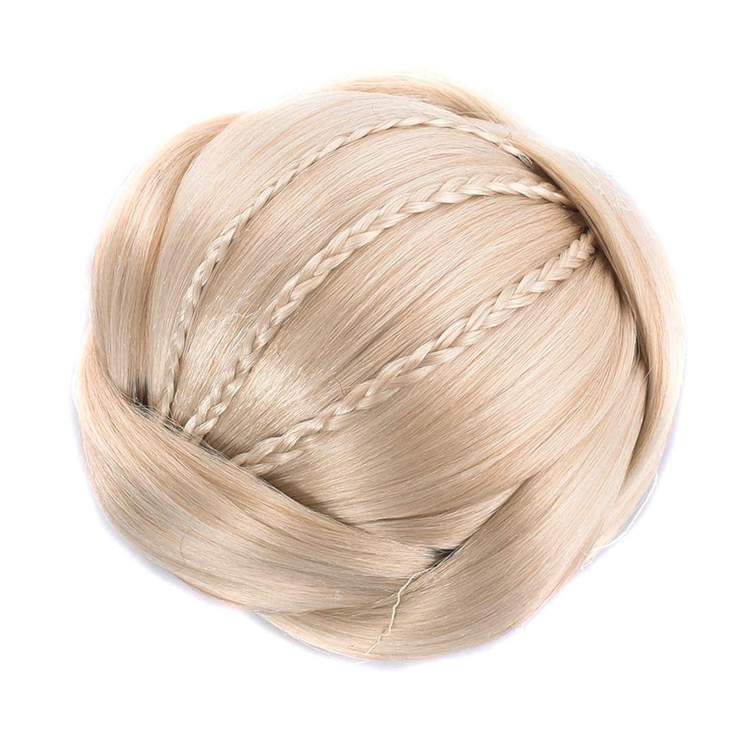 前提透けて見える精算Koloeplf 女性のヘアスタイリングヘアブラシ編みひもミートボールヘアブンブライダルティアラ (Color : Color 1003)