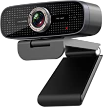 1080P Wide Angle Streaming Webcam - HD Web Camera with Microphone for Video Conferencing and Recording, JETAKU USB Camera ...