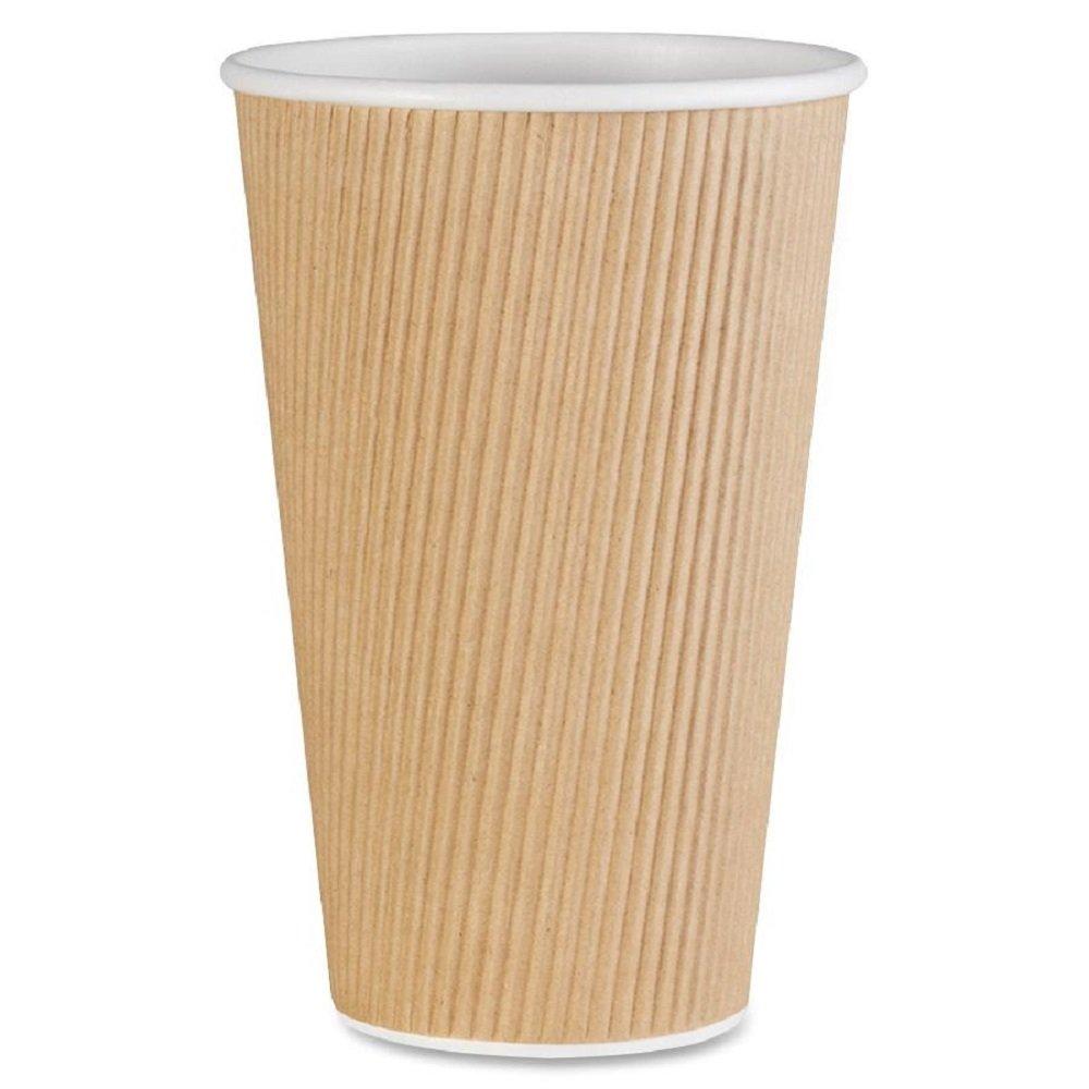 Genuine Joe-11257CT Ripple Tucson Mall Raleigh Mall Hot Cups 16 Brown oz -