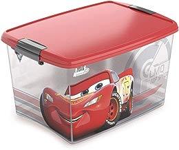 Caixa com Trava Carros Plasútil Vermelho 46 L
