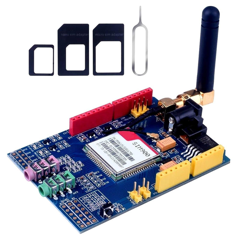 トラクター高層ビルストライクSIM900モジュールクワッドバンド850MHz / 900MHz / 1800MHz / 1900MHz 4周波数\開発ボード\ GSM \ GPRS \ SMS、Arduino用ワイヤレスデータスーパーTC35i