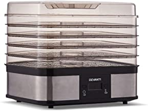 Devanti 245W 5 Trays Food Dehydrator Fruit Vegetables Meat Beef Dryer Drying Commercial Silver