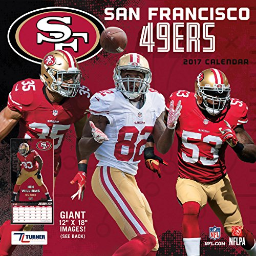 "Turner Licensing Sport 2017 San Francisco 49ers Team Wall Calendar, 12""X12"" (17998011925)"