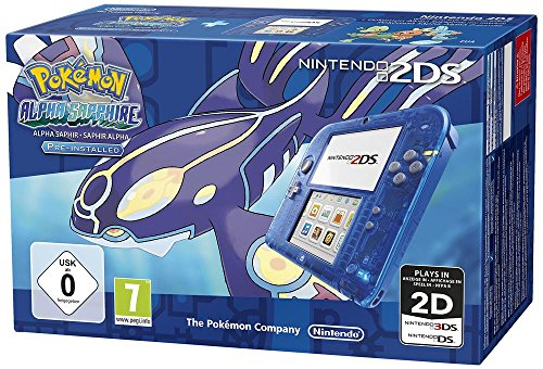 Nintendo 2DS (Transparent Blau) inkl. Pokemon Alpha Saphir