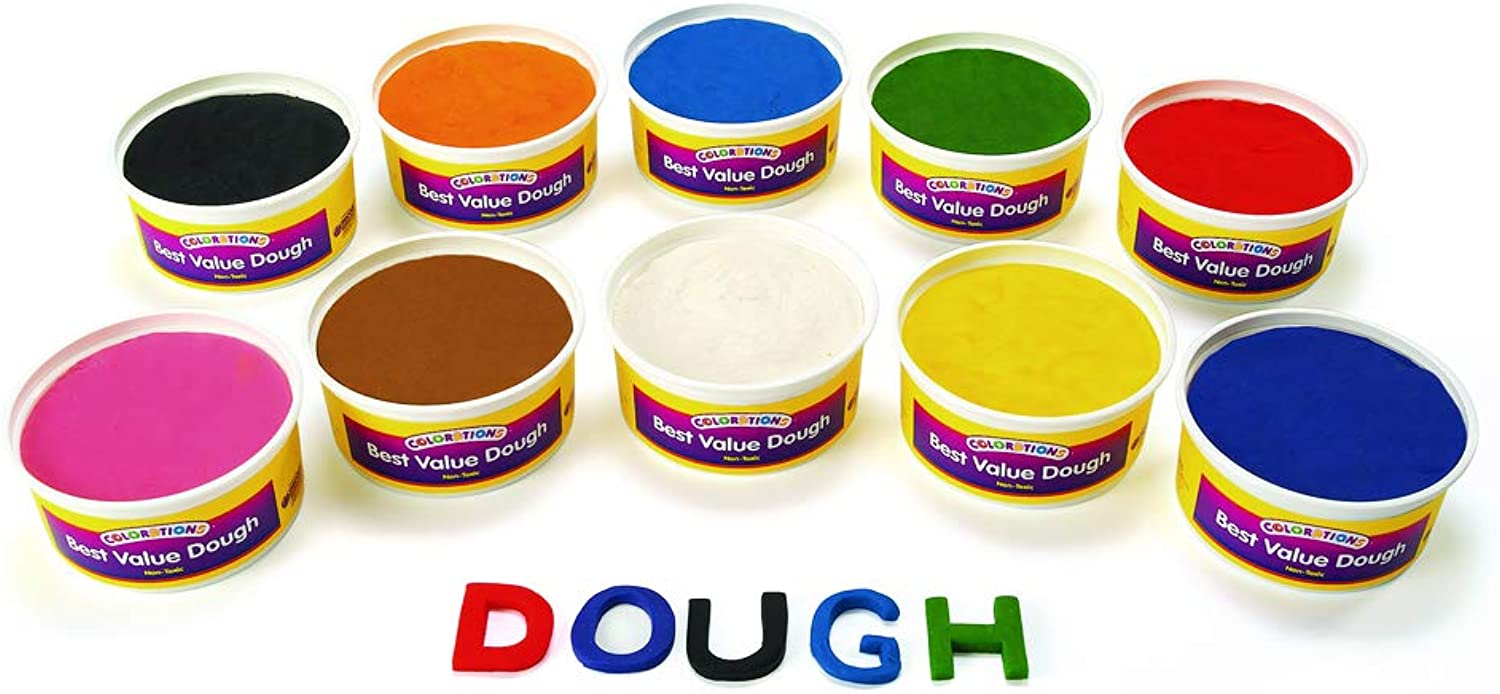 colorations Multicolor Pack of Modeling Dough 10 colors for Kids Arts and Crafts Material