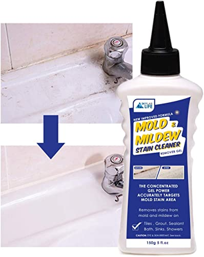 Skylarlife Home Mold & Mildew Stain Remover Gel Stain Remover Cleaner Wall Mold Stain Cleaner for Tiles Grout Sealant...