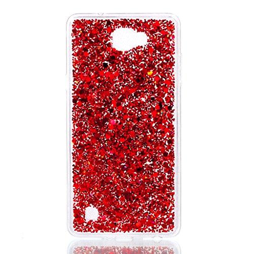 MUTOUREN LG X5 Funda Silicona Carcasa (Pantalla Protectora) TPU Protectora Cubiertas Calidad Cubierta De Silicona Patrón Caso Parachoques para LG X5 - Rojo