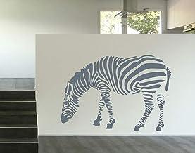 universumsum Muursticker Zebra donkerrood 72 x 50 cm wal238-72-030 Muursticker Wandsticker kinderkamer zelfklevend