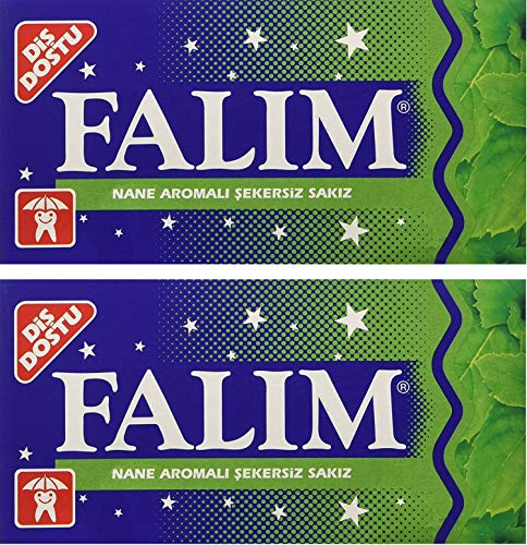Falim Sugarless Plain Gum Individually Wrapped, Mint Flavored, 100 Piece