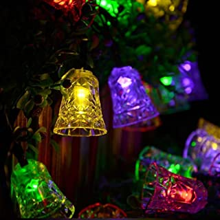 Hann Solar String Lights, 5M/16FT 20 LEDs Campanula Solar Powered Fairy Lights for Xmas Ornaments Party Décor Garden Yard ...