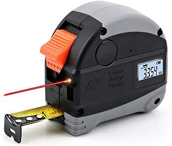 Heikio 98-Feet Distance Laser 2-in-1 Tape Measure