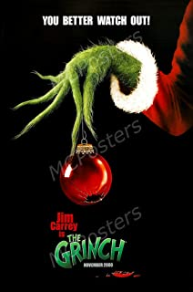 MCPosters The Grinch Jim Carrey GLOSSY FINISH Movie Poster - MCP194 (24