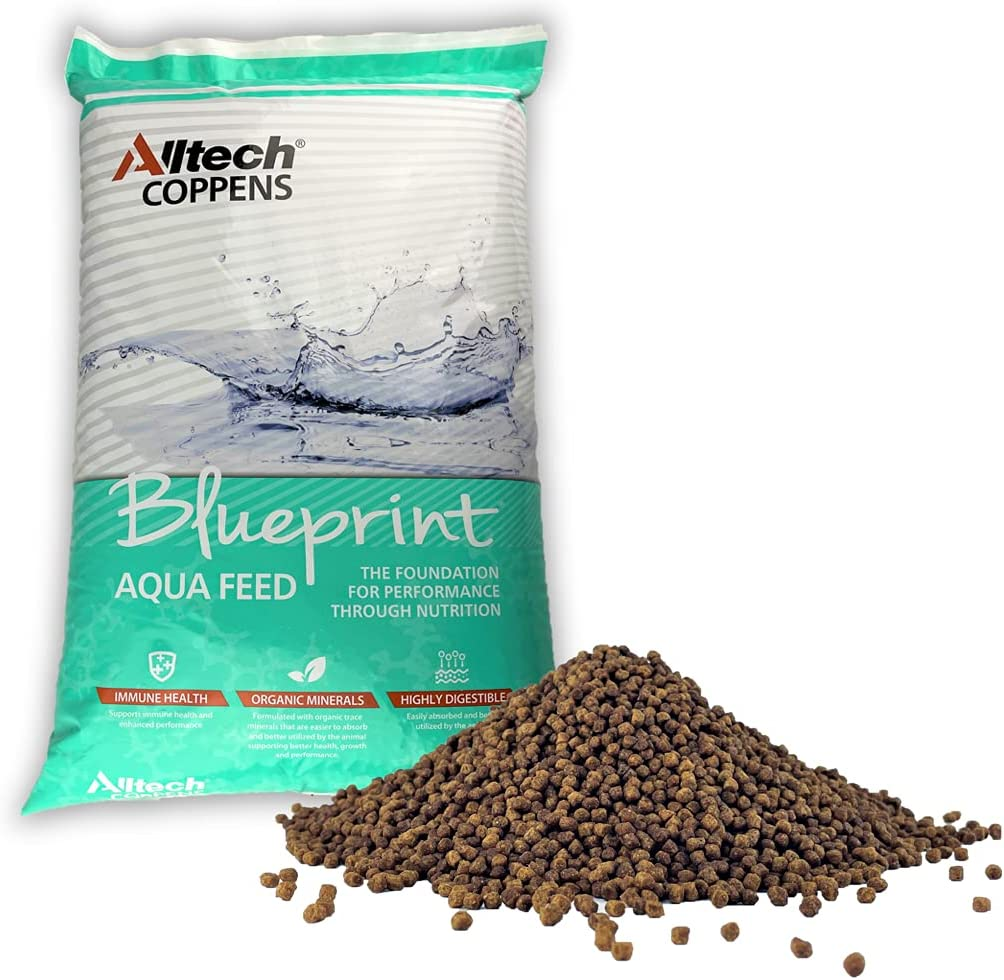 Alltech Coppens SP-15 3mm Floating Fish Food - Extruded Feed for Bluegill, Crappie, Catfish, Trout, Walleye and Other Freshwater Fish - 44 LBS