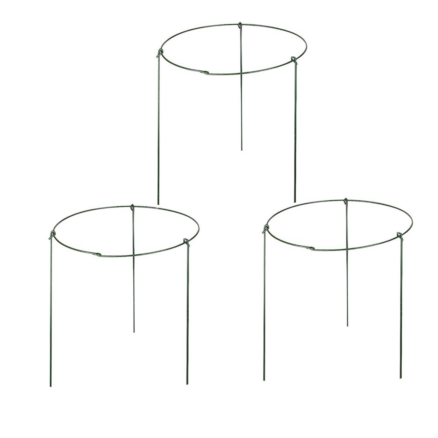 Rescozy Pack Of 3 Large Garden Plant Support Rings 10 Wide X 17 High 3 Legs Garden Outdoor