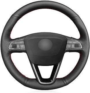 CYBHR Car decoration Auto Accessories handmade Automotive interior Car Steering Wheel Cover,for Seat Leon 5F Mk3 2013-2019...
