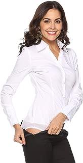 Women's Long Sleeve Easy Care Work Bodysuit Shirt