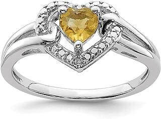 925 Sterling Silver Whiskey Quartz Diamond Band Ring S/love Gemstone Fine Jewelry For Women Gift Set