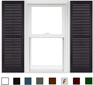 Best exterior wood louvered shutters Reviews