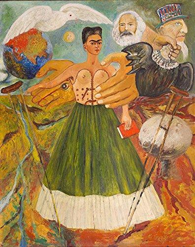 O Marxismo dará Saúde aos Doentes Crença Utópica Política Pintura de Frida Kahlo na Tela em Vários Tamanhos (73 cm X 55 cm tamanho da imagem)