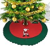 Konsait Falda del Árbol de Navidad rojo 35 Pulgadas de Navidad Fieltro Árbol Falda Base Mat...