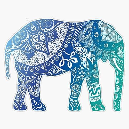 EMC Graphics Blue Elephant Vinyl Waterproof Sticker Decal Car Laptop Wall Window Bumper Sticker product image