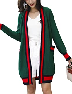 Women's Loose Casual Long Sleeve Knit Cardigan Without Buckle Sweater