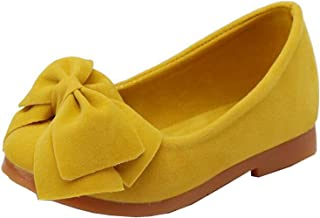 Girls Casual Slip On Bowtie Mary Jane Flats Ballerina Flat Toddler Shoes