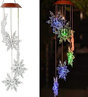 color changing solar snowflakes